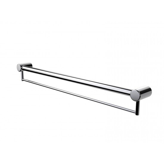 Calibre Mod 600mm Grab Rail With Towel Holder
